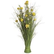 Grass Floral Bundle Yellow Dahlia and Freesia 100cm