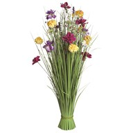 Grass Floral Bundle Pink and Yellow Magnolia 100cm