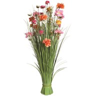 Grass Floral Bundle Coral and Pink Mixed 100cm