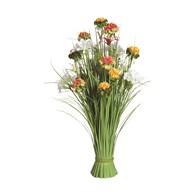 Grass Floral Bundle Orange and White Wild Flower 70cm
