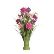 Grass Floral Bundle Pink and Purple Dahlia 70cm