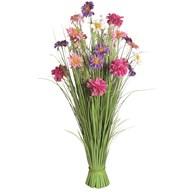 Grass Floral Bundle Pink and Purple Dahlia 100cm