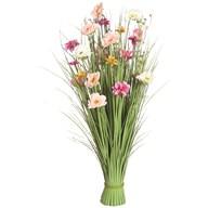 Grass Floral Bundle Pink and Peach Camellia 100cm