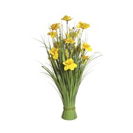 Grass Floral Bundle Yellow Daffodil 70cm