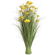 Grass Floral Bundle Yellow Daffodil 100cm