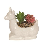 Artificial Succulent in Alpaca 13cm