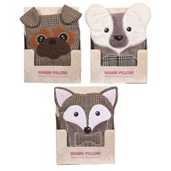 Animal Microwave Pillow 22cm 3 Assorted
