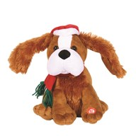 Animated Christmas Dancing Dog 25cm
