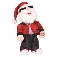 Animated Christmas Dancing Santa 33cm