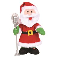 Animated Christmas Singing Santa 33cm