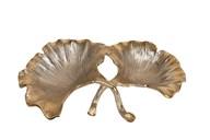 Antique Gold Leaf Dish 31x20cm