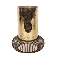Antique Gold Pillar Holder 33cm