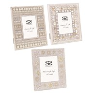 Beaded Photoframe 5x7 3 Assorted