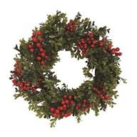 Berry Round Wreath Red 51cm