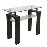 Black Veneer Console Table 100x40cm