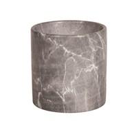 Grey Marble Planter 15x15cm
