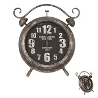 Black Metal Table Clock 44cm