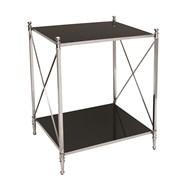 Black Mirror Side Table 53x66cm
