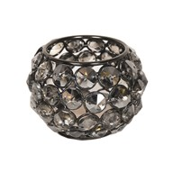 Black Nickle Round Tea Light Holder 6cm