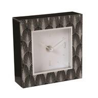 Black & Silver Clock 14cm