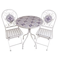Blue & White Bistro Set