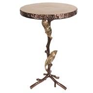 Bronze Leaf Design Table 40x64cm