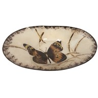 Butterfly Oval Bowl 40cm