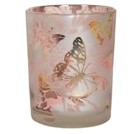 Floral and Butterfly Tealight Holder 12.5cm