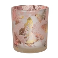 Floral and Butterfly Tealight Holder 10cm