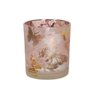 Floral and Butterfly Tealight Holder 8cm