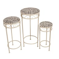 Canterbury Mosaic Tables Set of 3 65/56/48cm