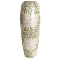 Capiz Green & White Vase 58cm