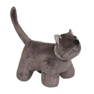 Cat Doorstop Dark Grey 25x27cm