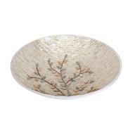 Champagne Floral Bowl 35cm