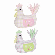 Chicken Door Stop 23cm 2 Assorted