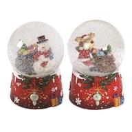 Christmas Snowglobe 14cm 2Asst