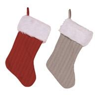 Christmas Stocking 35cm 2 Assorted