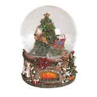 Christmas Tree Musical Snowglobe 20cm