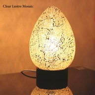 Clear Lustre Mosaic Egg Lamp