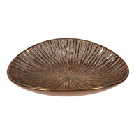 Copper Oval Bowl 30cm