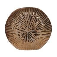 Copper Ribbed Vase 24cm