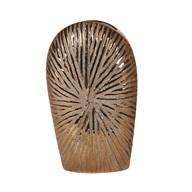Copper Ribbed Vase 28cm