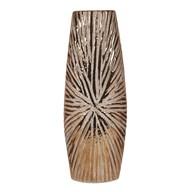 Copper Ribbed Vase 35cm