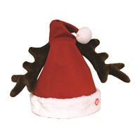 Musical Hat with Moving Antlers 35cm
