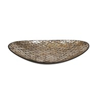 Dark Gold Capiz Bowl 39cm
