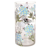 Glass Butterfly and Floral Vase 30cm