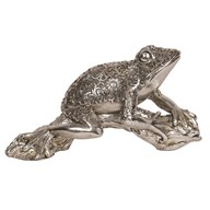 Decorative Silver Frog 31.5cm