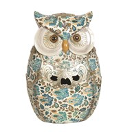 Blue Decorative Owl 23cm