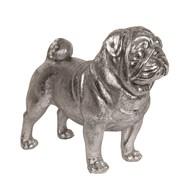 Silver Pug 43cm