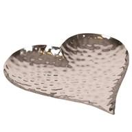 Decorative Hammered Effect Heart Bowl 26cm